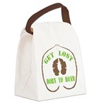 Get Lost Logo Distressed Canvas Lunch Bag
