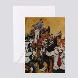 Orchestral cats Greeting Cards