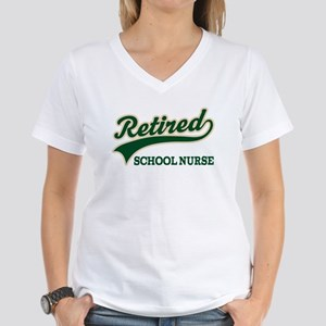 Retired School Nurse Women's V-Neck T-Shirt
