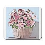 Watercolor Floral Basket Mousepad