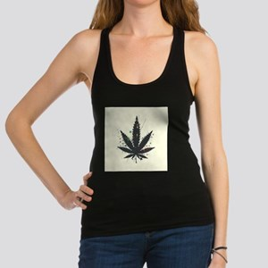 Marijuana Leaf Racerback Tank Top