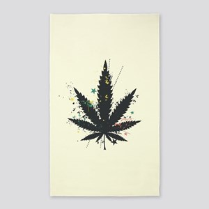 Marijuana Leaf Area Rug