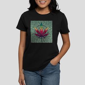 Marijuana Leaf Women's Dark T-Shirt