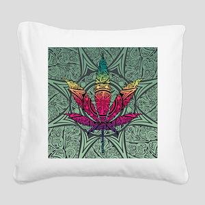 Marijuana Leaf Square Canvas Pillow