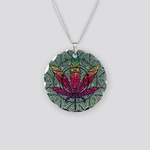 Marijuana Leaf Necklace Circle Charm