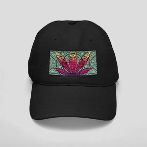 Marijuana Leaf Black Cap