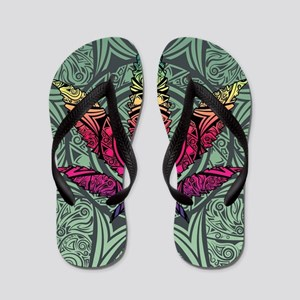 Marijuana Leaf Flip Flops