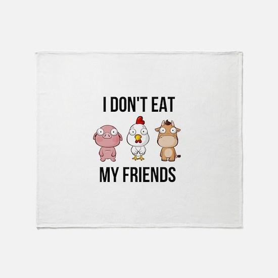 I Don't Eat My Friends - Vegan / Throw Blanket