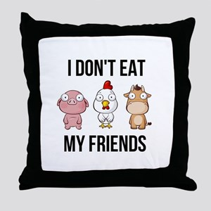 I Don't Eat My Friends - Vegan / Throw Pillow