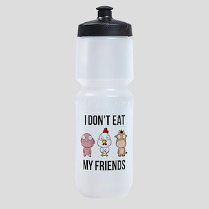 I Don't Eat My Friends - Vegan / Sports Bottle