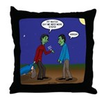 Zombie Fitness Throw Pillow