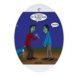 Zombie Fitness Oval Ornament