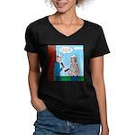 House Painting Women's V-Neck Dark T-Shirt