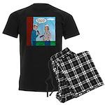House Painting Men's Dark Pajamas