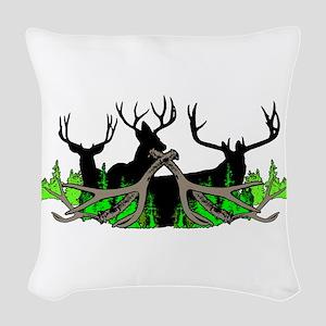 Deer shed 3 Woven Throw Pillow
