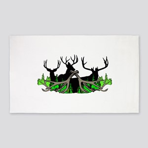 Deer shed 3 Area Rug