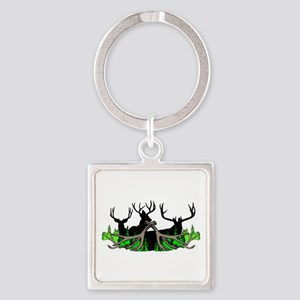 Deer shed 3 Square Keychain