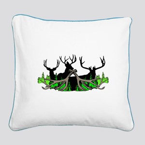Deer shed 3 Square Canvas Pillow