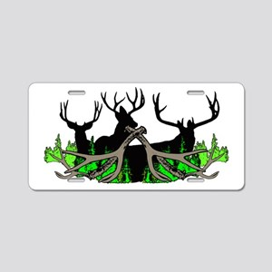 Deer shed 3 Aluminum License Plate