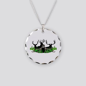 Deer shed 3 Necklace Circle Charm