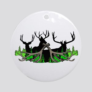 Deer shed 3 Round Ornament