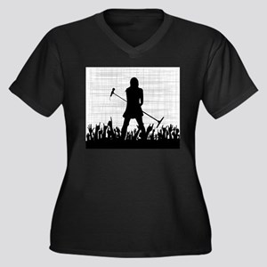 Singer on Stage Grung Plus Size T-Shirt