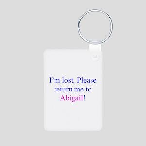 Return Me To Abigail Aluminum Photo Keychain