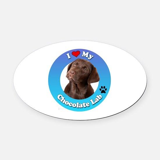 Cute Canine labrador Oval Car Magnet