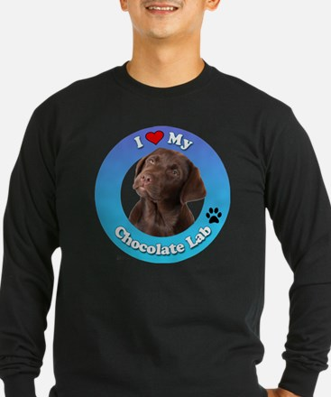 Cute Chocolate lab lovers T
