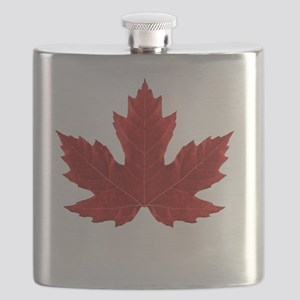 Red Maple Leaf Flask