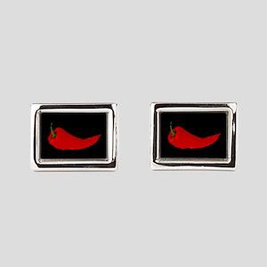 Impressionist Pepper Rectangular Cufflinks