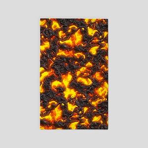 Hot Lava Area Rug