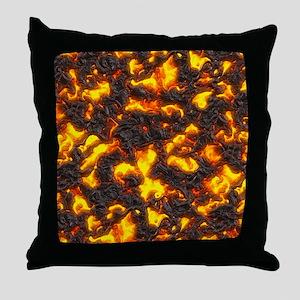 Hot Lava Throw Pillow