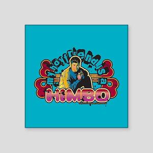 """90210 Boyfriend Himbo Square Sticker 3"""" x 3"""""""