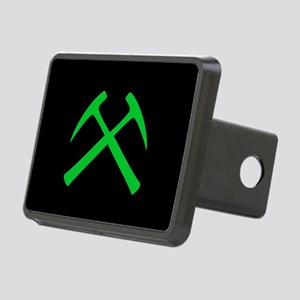 Crossed Rock Hammers Rectangular Hitch Cover