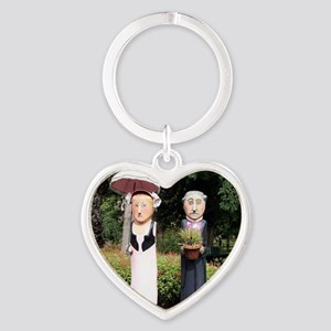 Old married couple sculptures Keychains