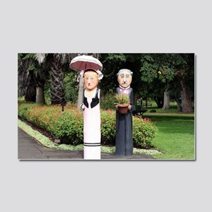 Old married couple sculptures Car Magnet 20 x 12