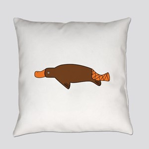 Cartoon Platypus Everyday Pillow