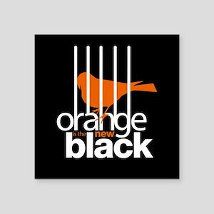 Orange is the New Black Caged Bird Sticker