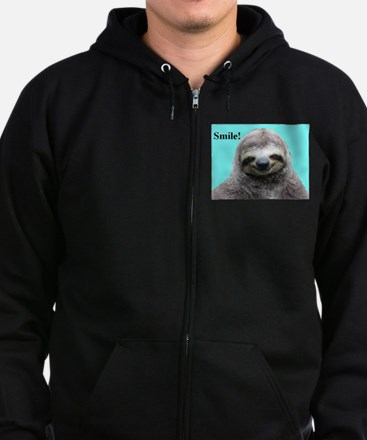 Cute Sloth Zip Hoodie (dark)