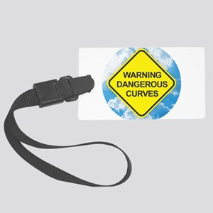 Dangerous Curves Large Luggage Tag