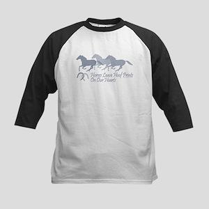horse hoof prints 1 Baseball Jersey