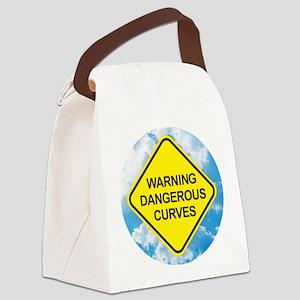 Dangerous Curves Canvas Lunch Bag