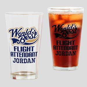 Flight Attendant Personalized Gift Drinking Glass
