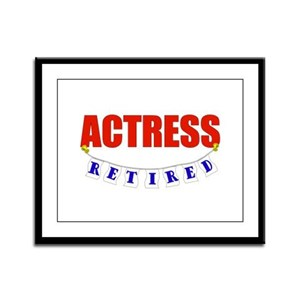 Retired Actress Framed Panel Print