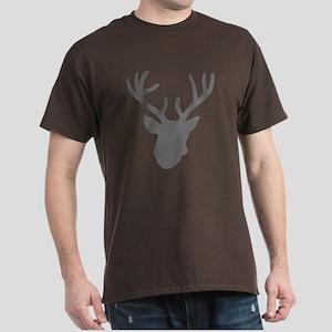 Deer Head: Rustic Grey Dark T-Shirt
