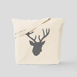 Deer Head: Rustic Grey Tote Bag