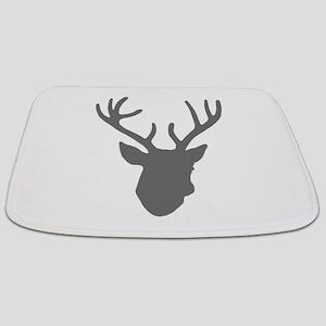Deer Head: Rustic Grey Bathmat