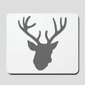 Deer Head: Rustic Grey Mousepad