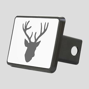 Deer Head: Rustic Grey Rectangular Hitch Cover